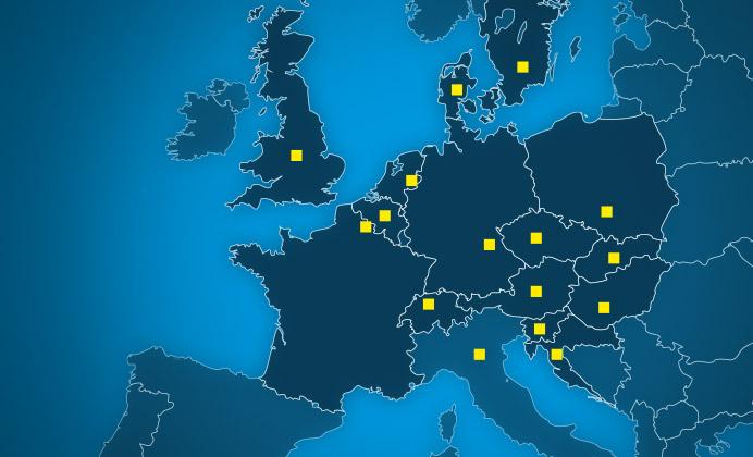 Approvisionnement dans toute l'Europe