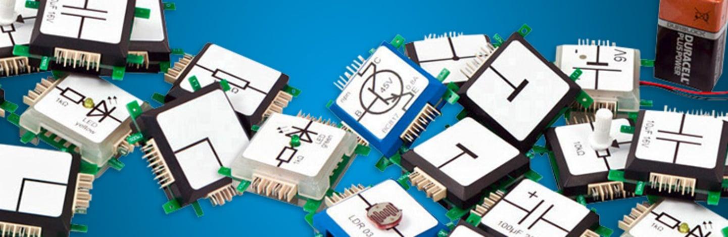 Brick'R'knowledge - das clevere Stecksystem zum Erstellen von elektronischen Schaltungen »