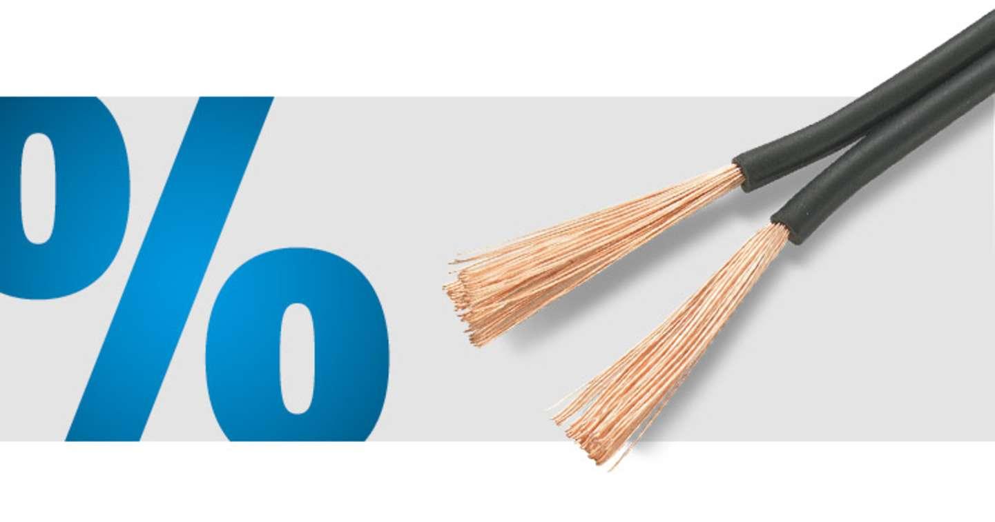 TRU Components - CCA PVC Zwillingslitze 50 m (2 x 0.75 mm²)