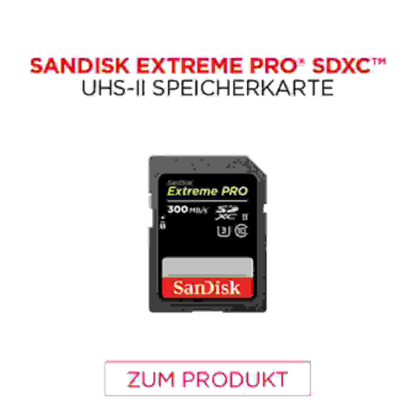 Sandisk Extreme Pro SDXC UHS Speicherkarte