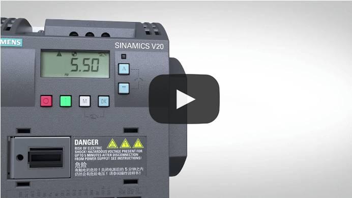 Sinamics V20 - die perfekte Lösung für Basisanwendungen