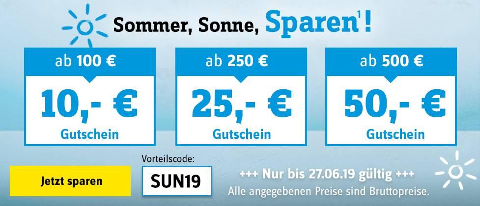 Sommer, Sonne, Sparen bei Conrad