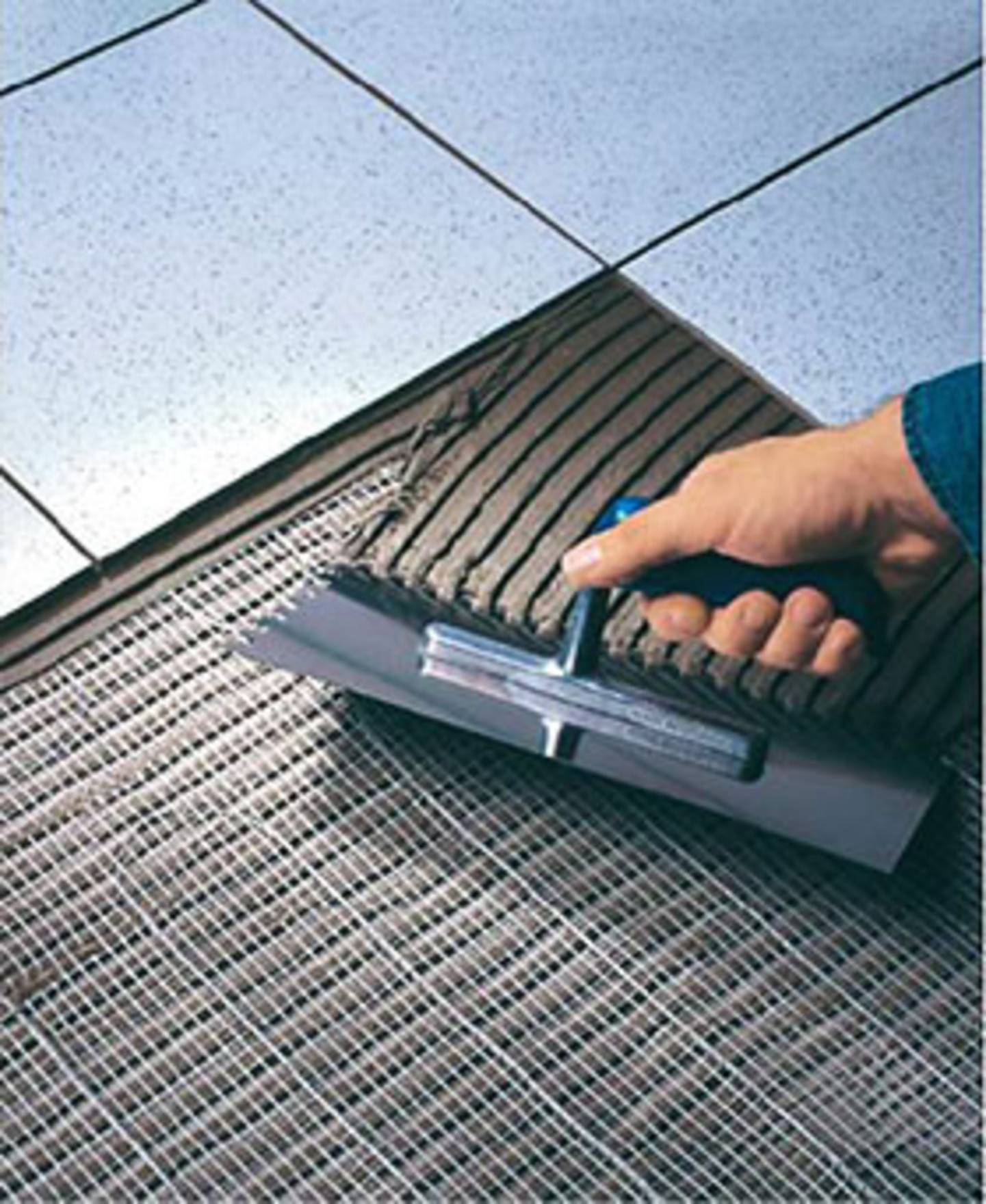 Elektrische Fußbodenheizung - Belag aufbringen