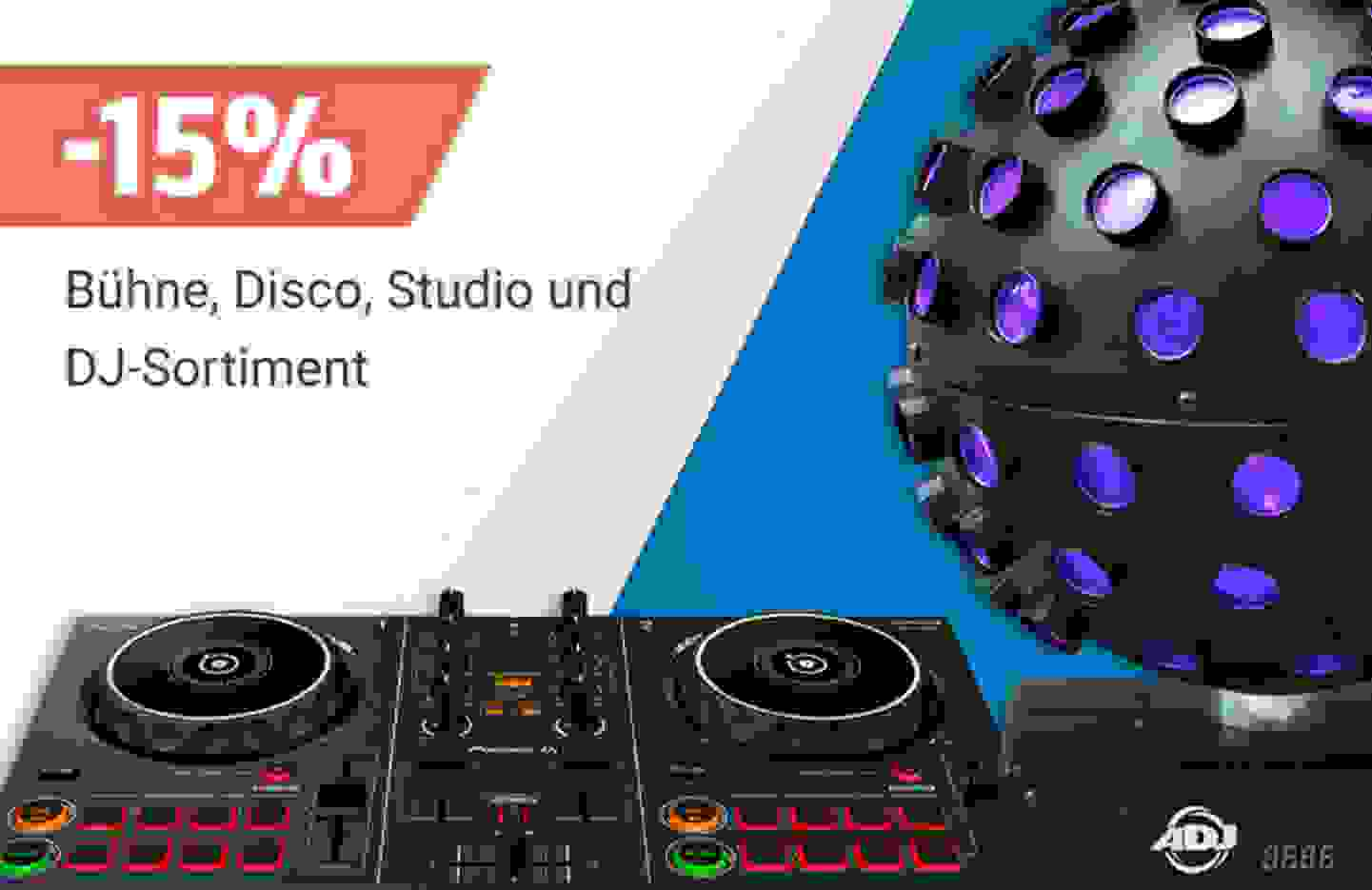 Sortimentsrabatt: 15% Rabatt auf das gesamte Bühne, Disco, Studio und DJ-Sortiment - Jetzt profitieren »