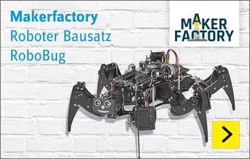 Makerfactory Roboter Bausatz RoboBug Kit Version