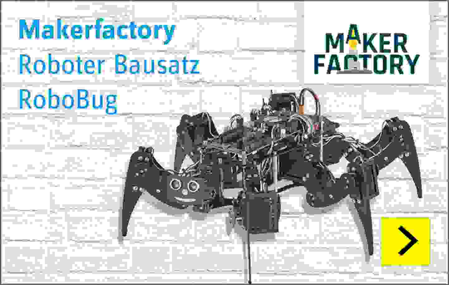 Makerfactory Roboter Bausatz RoboBug Kit Version
