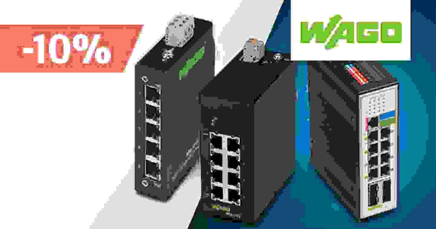 10% Rabatt auf Industrial Ethernet Switches von Wago