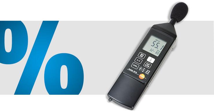 testo - Schallpegel-Messgerät 32 - 130 dB 31.5 Hz - 8000 Hz