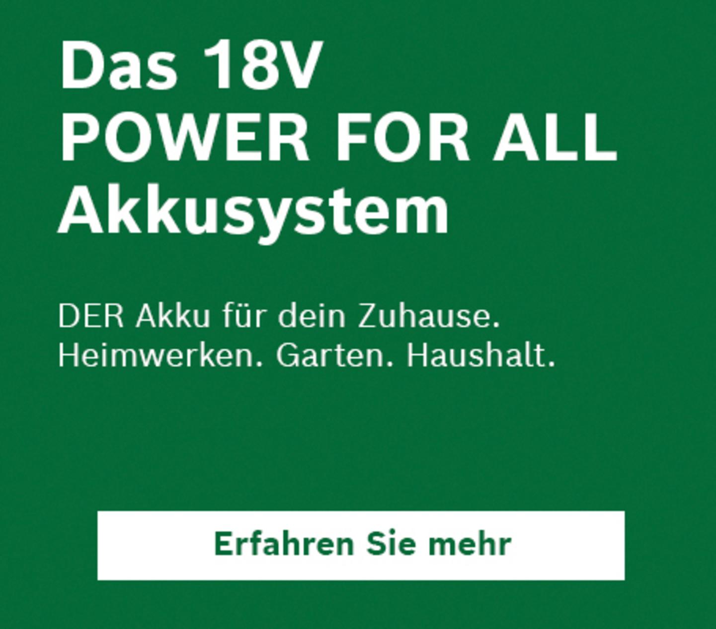 18V Power for all Akkusystem