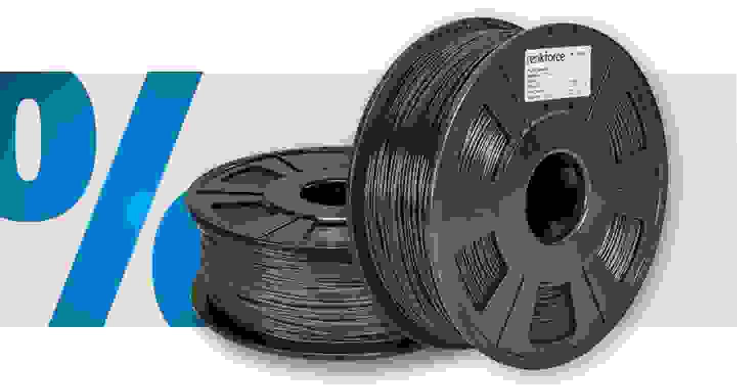 Renkforce - Filament   PLA   1.75mm   Schwarz   1kg »