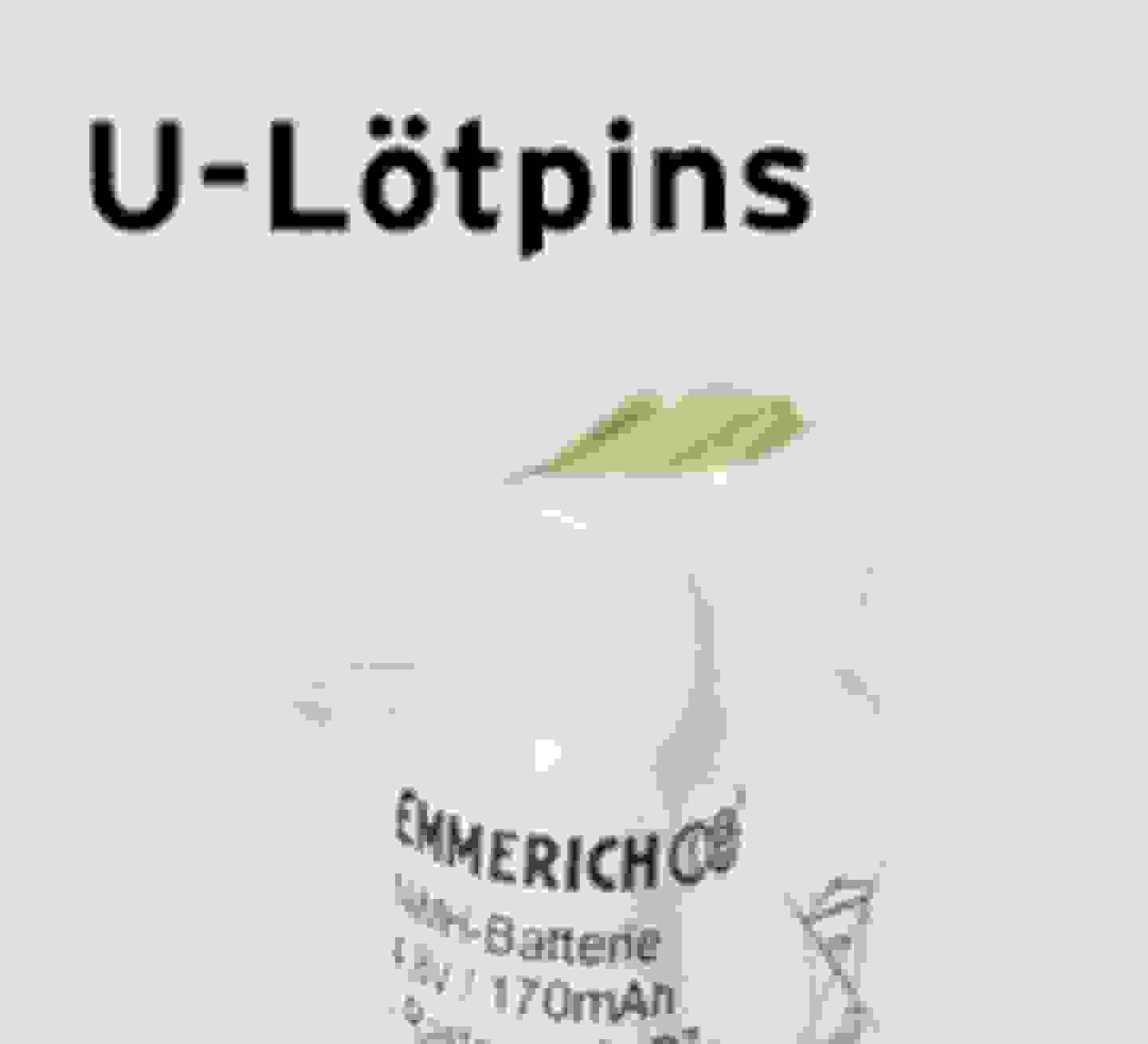 Emmerich U-Lötpin-Akkupacks