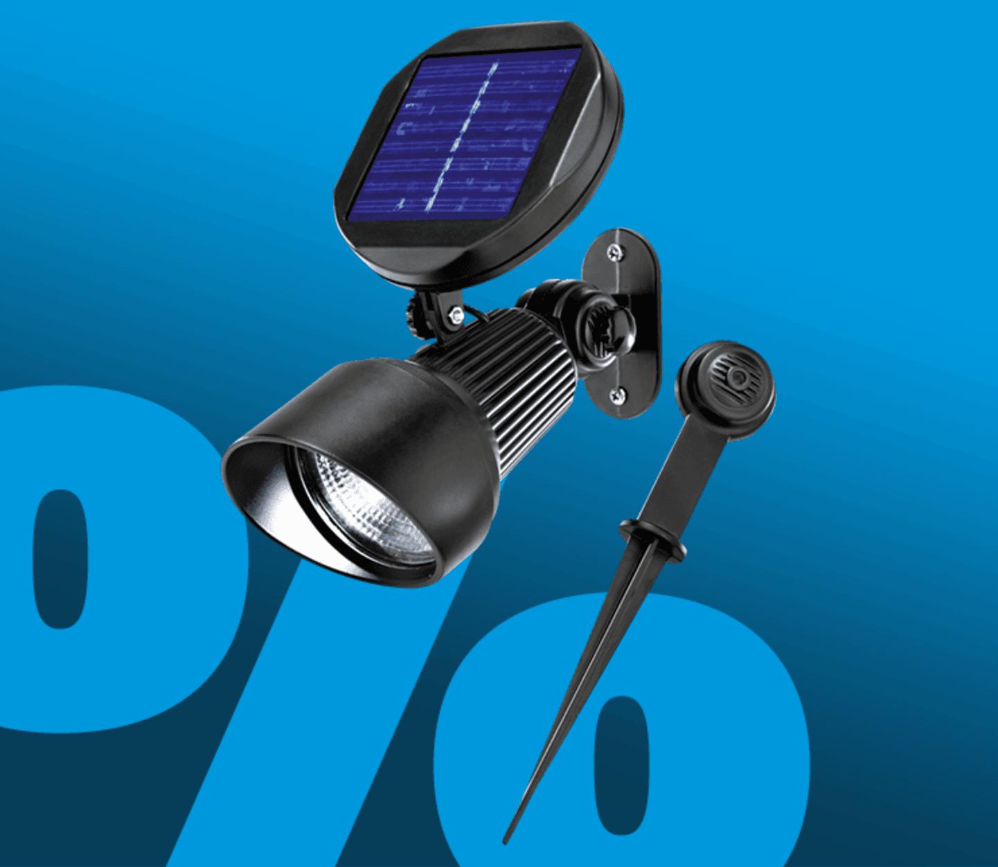 Esotec - Solar Gartenstrahler Spotlight LED