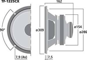 Aufbauzeichnung eines Lautsprecher-Chassis