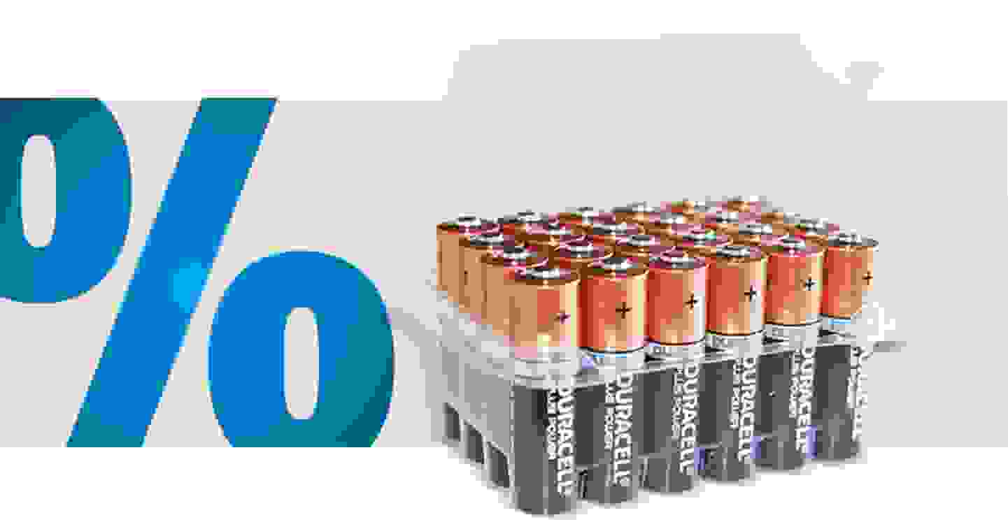 Duracell - Plus Power LR06 Box Mignon (AA)-Batterie Alkali-Mangan 1.5 V 24 St. »