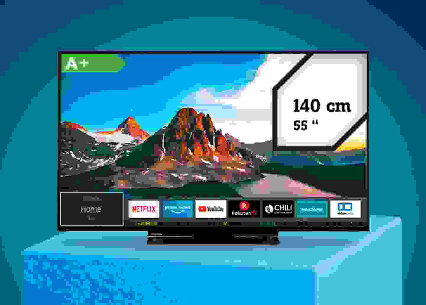 Toshiba - LED-TV 140cm EEK A+ »