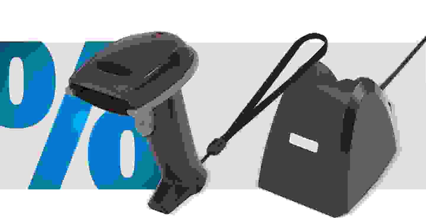 Renkforce - Barcode-Scanner Funk 1D LED Schwarz Hand-Scanner USB »