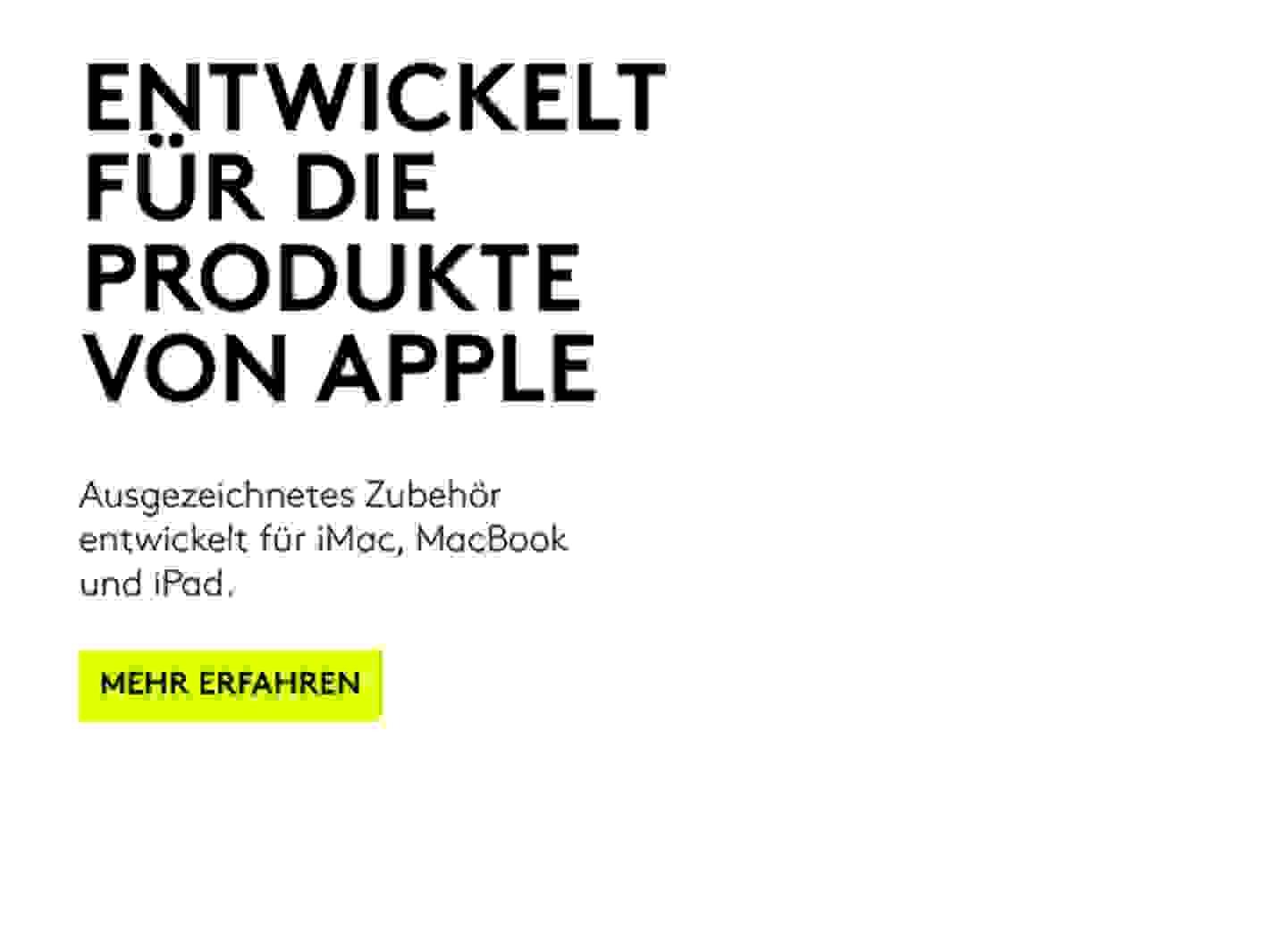 Entwickelt für die Produkte von Apple