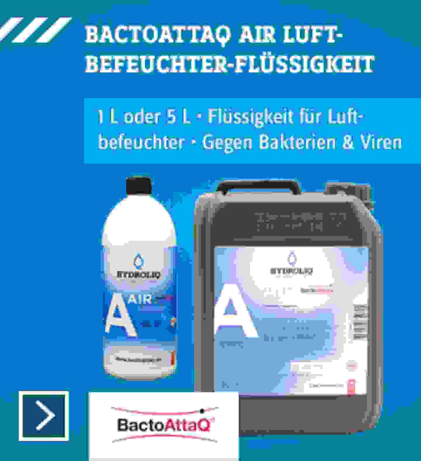 Bactoattaq Luftbebeuchter Flüssigkeit