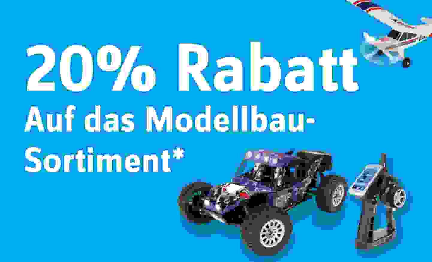 20% Rabatt auf das Modellbau-Sortiment