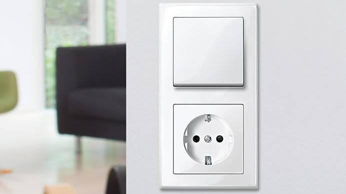 Schalter und Steckdosen für die Elektroinstallation