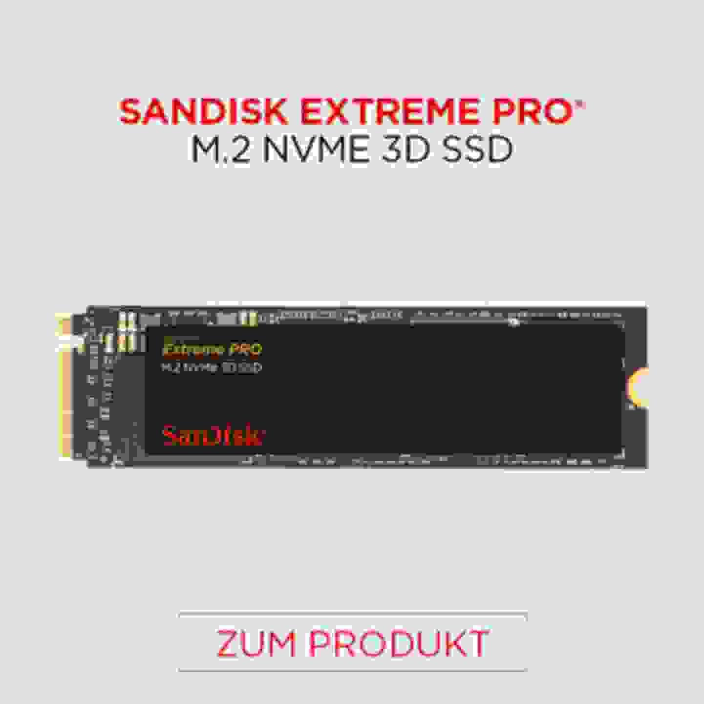 Sandisk Extreme Pro M.2 NVME 3D SSD