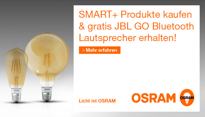 OSRAM Vorteilsaktion Gratis JBL Bluetooth Speaker