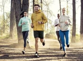 Jogging mit Fitness-Tracker