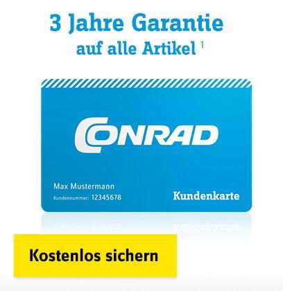 Jetzt eine der Conrad Kundenkarten beantragen!