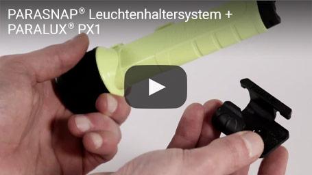 PARASNAP® Leuchtenhaltersystem + PARALUX® PX1 | PARAT Die Sicherheitsleuchte