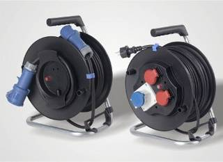 The left cable reel for the campsite, the right one for home.