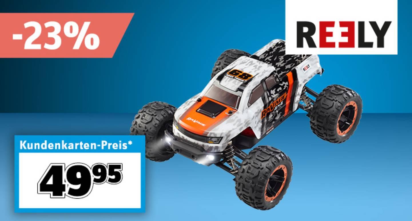 Reely - RaVage 4x4 Brushed 1:16 RC Modellauto Elektro Monstertruck Allradantrieb (4WD) RtR 2,4 GHz inkl. Akku