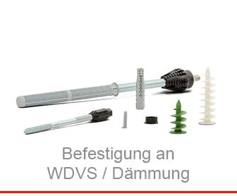 Befestigung an WDVS / Dämmung