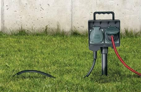 Gartensteckdose mit integriertem Anschlusskabel