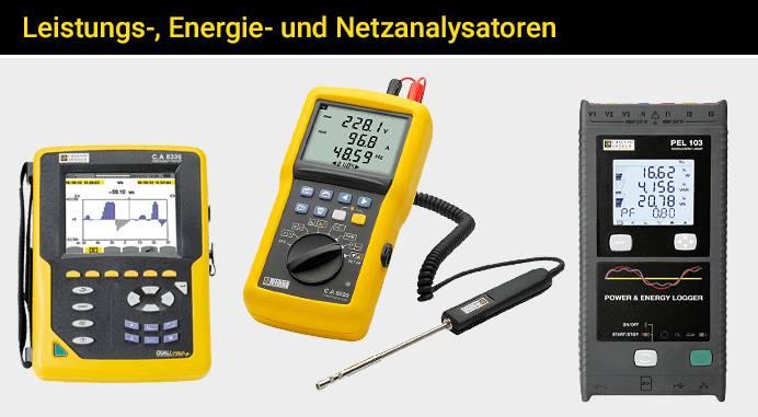 Leistungs-, Energie- und Netzanalysatoren