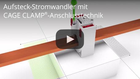 Aufsteck-Stromwandler mit CAGE CLAMP®-Anschlusstechnik