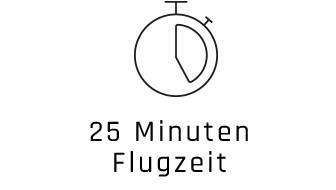 25 Minuten Flugzeit