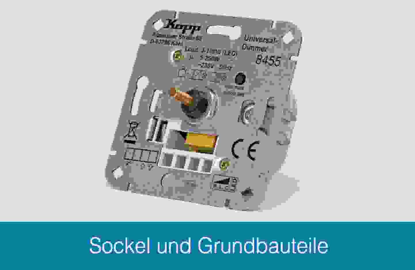 Kopp Sockel und Grundbauteile