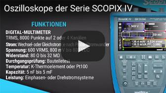 Oszilloskope der Serie SCOPIX IV