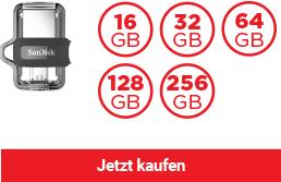 SanDisk Ultra® Dual USB Laufwerk m3.0