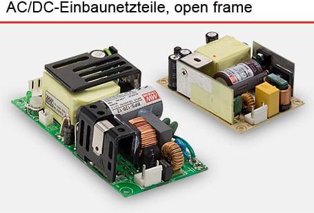 AC/DC-Einbaunetzteile open frameMean Well