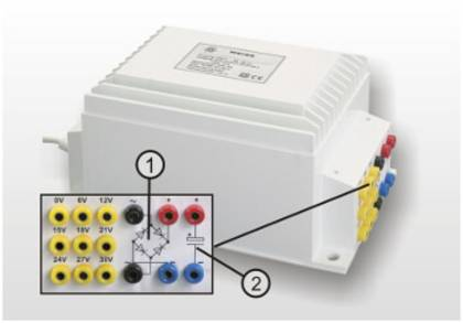 Compact power supply transformer