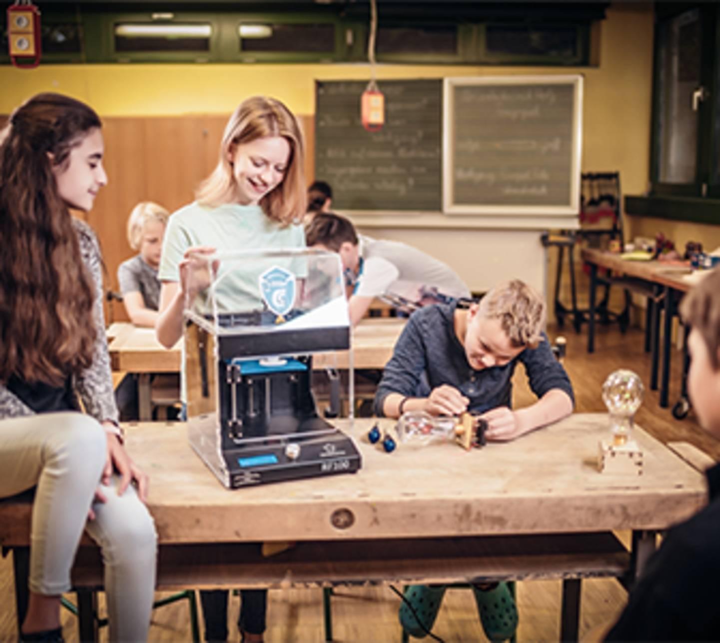 3D-Drucker mit Schülern