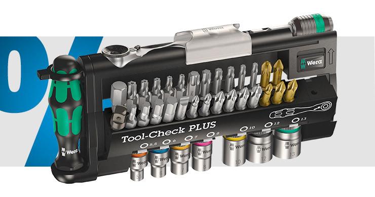 Wera - Tool-Check PLUS Bit-Set 39 teilig: Schlitz, Kreuzschlitz Phillips, Kreuzschlitz Pozidriv, Innen-Sechskant