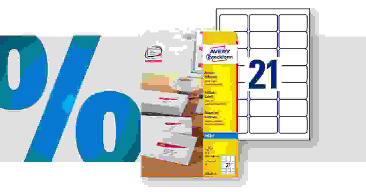 Avery-Zweckform - Universal Etiketten   63.5 x 38.1mm   Weiss 525 St. »