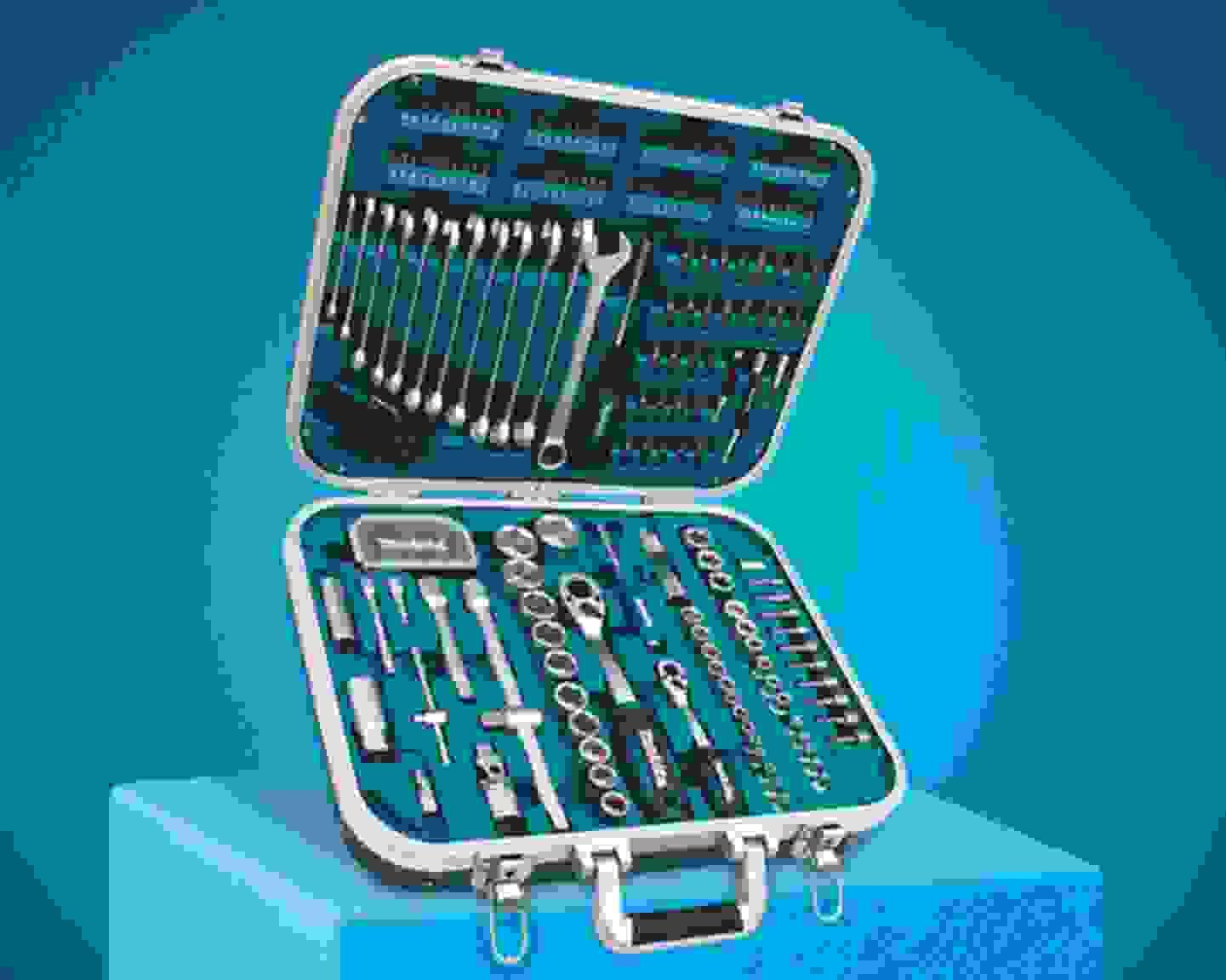 Makita - Werkzeugset im Koffer, 227-teilig »