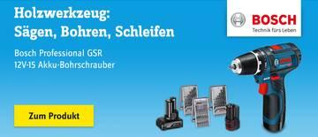 Bosch - Professional GSR 12V-15 Akku-Bohrschrauber 12 V 2 Ah Li-Ion inkl. 2. Akku, inkl. Zubehör, inkl. Tasche