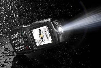 Outdoor-Handy mit integrierter Taschenlampe