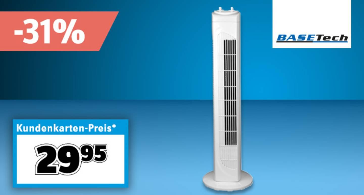 Basetech - Turmventilator 40 W | Weiss »