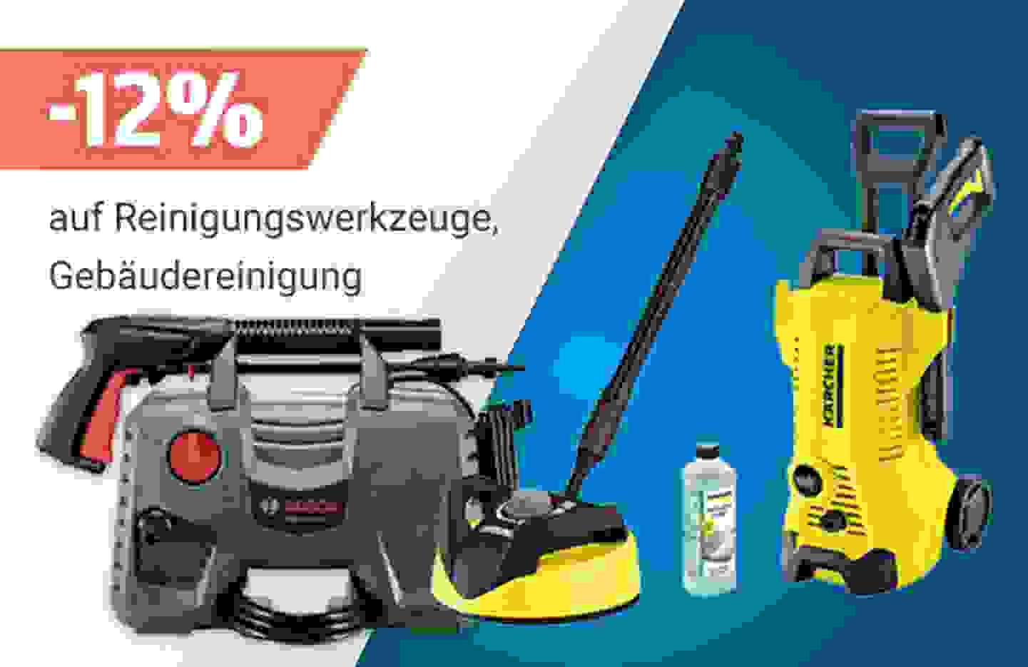 Aktion: 12% Rabatt auf alle Reinigungswerkzeuge und Gebäudereinigung »