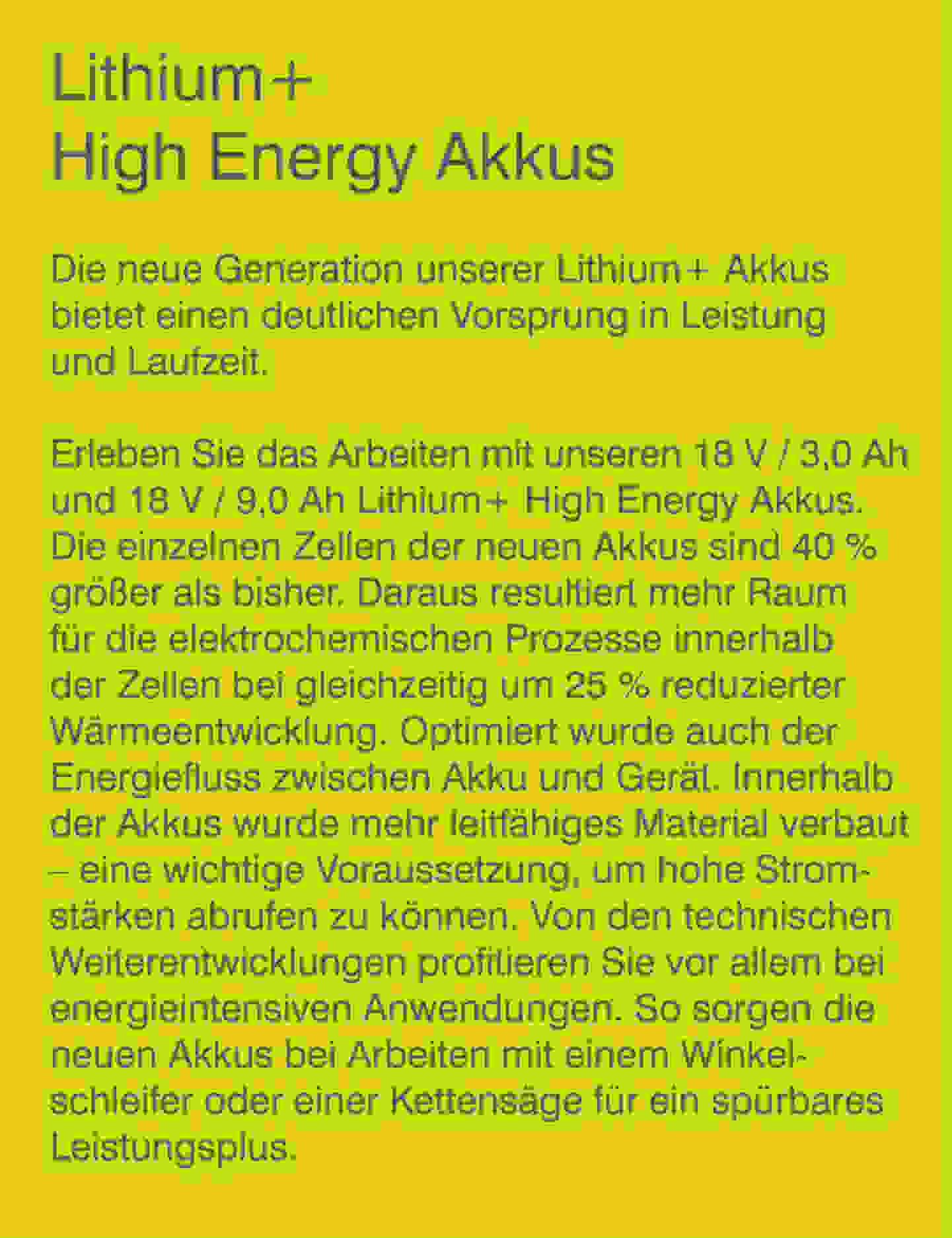 Lithium+ High Energy Akkus